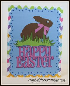 Cricut Easter Cards  www.craftysisterscreations.com