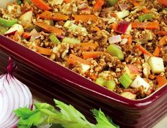 Seven Whole Grain Harvest Stuffing. RahRah for healthier whole grains!! :-) #additudemag and #adhdplate
