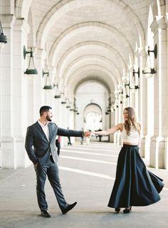 Stylish and Chic Engagement Shoot in Washington DC