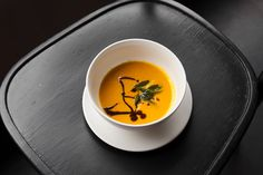 Spicy Carrot Soup with Vadouvan Curry | Lantern | Chapel Hill, NC | Photo: Allison Mannella