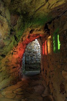 Rainbow Hallway at Rock City on Lookout Mountain, GA.