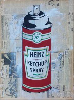 Hierbei handelt es sich um einen handsignierten und per Hand veredelten Pop Art Siebdruck des bekannten Urban Art Künstlers Mr. Brainwash.    Abmessungen: 56cm x 76cm  Material: Acrylfarbe auf Siebdruck