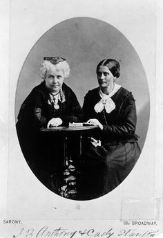 Susan Anthony and Elizabeth Stanton