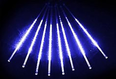 Alkbo Blue Color Meteor Shower Rain Lights Waterproof String for Wedding Party Christmas Xmas Decoration Tree Party Garden Xmas String Light Outdoor 8 Tube - Christmas Cart - Christmas Cart Meteor Shower, String Lights Outdoor, Xmas Decorations, Light Colors, Bulb, Bright Colors, Onion, Bulbs, Lightbulbs