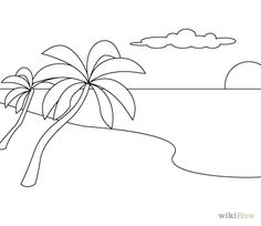 drawing a simple beach scene - Google Search