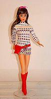 Barbie mod-era fashions.  The Short Set #3481 (1972)