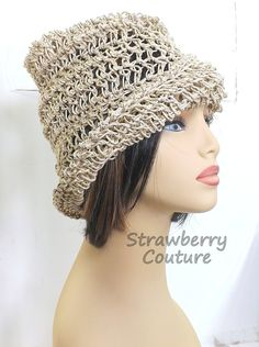 Click #strawberrycouture Natural Crochet Hat Womens Hat Trendy  Womens Crochet Hat  Crochet Beanie Hat  Natural Hat  Ombretta Beanie Hat  Boho Hat by strawberrycoutureBuy it on Etsy