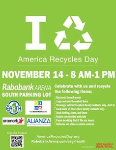 America Recycles Day event at Bakersfield Rabobank this Saturday