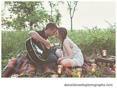 engagement photos, rustic engagement photos, woodsy engagement photos, engagement photos with a guitar