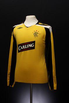 Glasgow Rangers Football Shirt (change, 2007-2008) Rangers Football, Rangers Fc, Football Team, Football Shirts, Sports Shirts, Sport Shirt Design, Football Pictures, Uefa Champions League, Glasgow