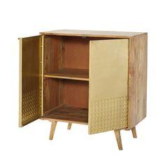 Credenza bassa lunga a 2 ante e 3 cassetti in legno massello di ...