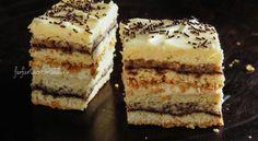 Prăjitură cu magiun, nucă și vanilie - Farfuria Colorată Tiramisu, Deserts, Ethnic Recipes, Food, Cream, Pies, Essen, Postres, Meals