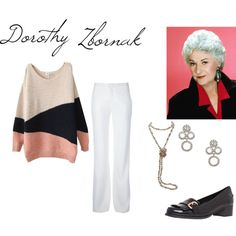 Dorothy Zbornak (Bea Arthur) from Golden Girls by jem85 on Polyvore featuring MSGM, Carvela, Kate Spade and BEA