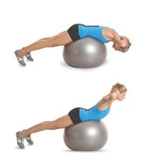 Stability-Ball Back Extension | Women's Health Magazine