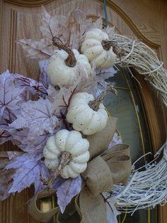 Pumpkin Wreath Autumn Wreath Fall Wreath Elegant Wreath Front Door Wreath Wreath For Front Door White Wreath Faux Wreath Gift Christmas Mesh Wreaths, Thanksgiving Wreaths, Autumn Wreaths, Wreath Fall, Spring Wreaths, Summer Wreath, Elegant Fall Wreaths, Purple Wreath, White Wreath