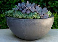 Lightweight Concrete Deep Bowl | Garden Life