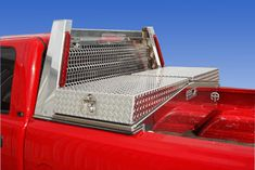 Pickup bed tool boxes built by Highway Products, Inc are built with heavy gauge aluminum.