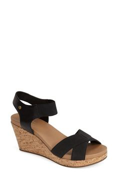 G.H. Bass and Co. G.H. Bass & Co. 'Nettie' Cork Wedge Sandal (Women) available at #Nordstrom