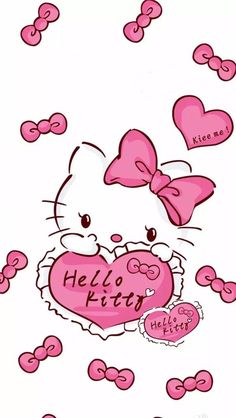 Walpaper Hello Kitty, Hello Kitty Iphone Wallpaper, Hello Kitty Backgrounds, Sanrio Wallpaper, Cool Backgrounds, Kawaii Wallpaper, Wallpaper Iphone Cute, Phone Backgrounds, Hello Kitty Art