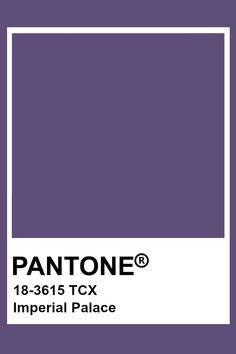 This color of purple is pretty dark so I think it has some dark tones added to it. It is not very intense. Pantone Tcx, Pantone Swatches, Color Swatches, Pantone Colour Palettes, Pantone Color, Paint Palettes, Colour Pallete, Colour Schemes, Colour Chart