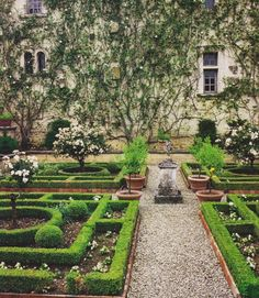 The Time of Elegance: Jardin à la Française or French Formal Garden French Formal Garden, Formal Garden Design, Garden Modern, Boxwood Garden, Garden Plants, Flowers Garden, Formal Gardens, Outdoor Gardens, Hedges