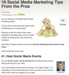 16 Social Media Marketing Tips From the Pros For Facebook, LinkedIn, Pinterest and more!
