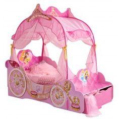 letto-per-bambine-a-forma-di-carrozza-rosa-da-principessa-0 ... - Letto Carrozza Disney