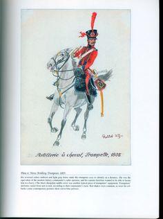 Artillery: Plate 6: Horse Artillery. Trumpeter, 1805.