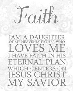 faith.. Perfect for FHE to teach children the meanings.