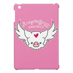 Love Is A Flying Pig iPad Mini Cover - calligraphy gifts custom personalize diy create your own