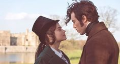 Jenna Coleman as Victoria and Tom Hughes as Prince Albert in Masterpiece Theatre's Victoria.