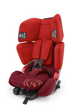 VARIO XT-5 Group: I / II / III / Age: 9 months up to 12 years / Weight of child: 9 up to 36 kg An easy-to-operate Group I, II, III seat with a smart size-adjustment facility to keep pace with your child's growth and a five-point harness system for Group I. The adjustment of the headrest and shoulder protectors is automatically blocked until the seat is set at its lowest level, indicating that a move from Group I to Group II / III is required.