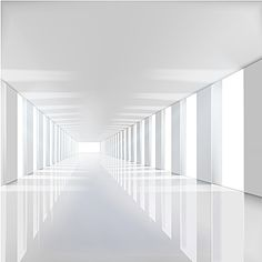 3d stereoscopic white minimalist interior architecture Interior Minimalista, 3d Clouds, Minimalist Interior, White Aesthetic, Beautiful Butterflies, Lighting Design, Interior Architecture, Colorful Backgrounds, Minimalism