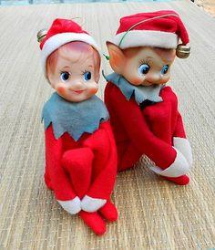 Vintage Christmas Elves ~