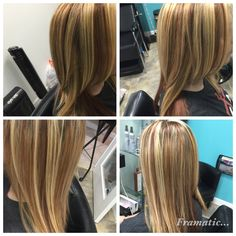 Blonde highlights with copper lowlights ❤️❤️