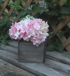 Small Wood Box  Vase for Your Wedding Decor Home Decor Rustic on Etsy, $11.50