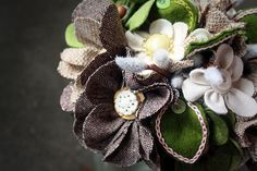 Loving the #Tweed #Wedding #Bouquet!! | The Bouquet