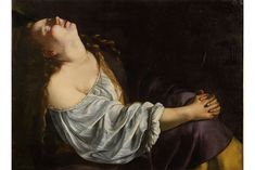 Sotheby's Paris to sell rediscovered painting by Baroque artist Artemisia Gentileschi -  Mary Magdalene In Ecstasy,