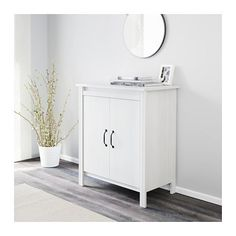 maybe for the litter box- BRUSALI Cabinet with doors - white - IKEA