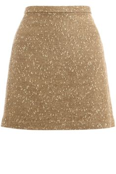 Gold Tweed A Line Skirt