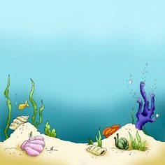 A nice clean and simple sea floor to use as a backdrop for your Under the Sea characters Borders For Paper, Borders And Frames, Background Clipart, Paper Background, Orla Infantil, Sea Drawing, Sea Floor, Mermaid Under The Sea, Ocean Themes