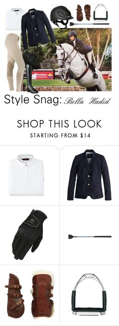 """""""Style Snag: Bella Hadid"""" by equine-couture ❤ liked on Polyvore featuring J.Crew and Ariat"""
