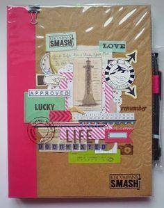 С головой в скрапбукинге: cover of my pink folio smashbook. Life.documented project