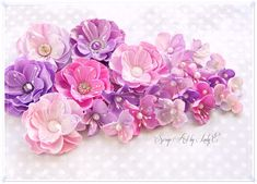 Handmade Foam flowers - Online Workshop - Lady E Design Paper Flowers Diy, Paper Roses, Handmade Flowers, Flower Cards, Fabric Flowers, Paper Crafts Magazine, Diy Paper, Card Making Techniques, Tela