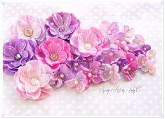 Handmade Foam flowers - Online Workshop - Lady E Design Paper Flowers Diy, Handmade Flowers, Flower Cards, Fabric Flowers, Diy Paper, Paper Crafts Magazine, Flowers Online, Heartfelt Creations, Flower Tutorial