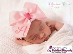 ANY INITIAL baby girl hat newborn girl hat by InfanteenieBeenie
