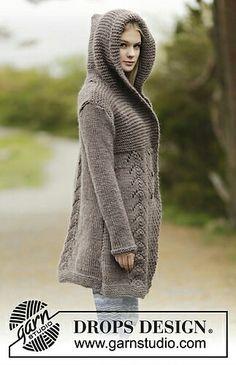Ladies coat free knitting pattern