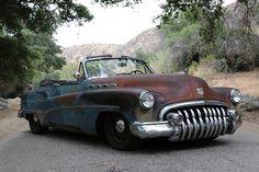 1950 Buick Roadmaster ICON Derelict #BuickRoadmasterConvertible #winddeflector #windscreens http://www.windblox.com/