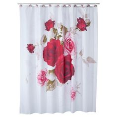 Add more romance to your life with the Prelude Shower Curtain. This romantically floral shower curtain features beautiful rose print for a softness and gentle approach to the morning. Made of 100% polyester for durability and to hold the luxurious attitude, these shower curtains are an instant must-have bathroom accessory. Combine with other bathroom décor items in the Prelude collection or create your own romantic space.