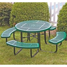 Perforated Round Picnic Table for the back yard. #smartvilleSweepstakes